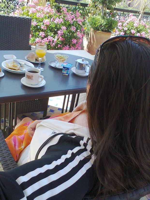 En het 1ste ontbijtje WITH a VIEW is a fact :)