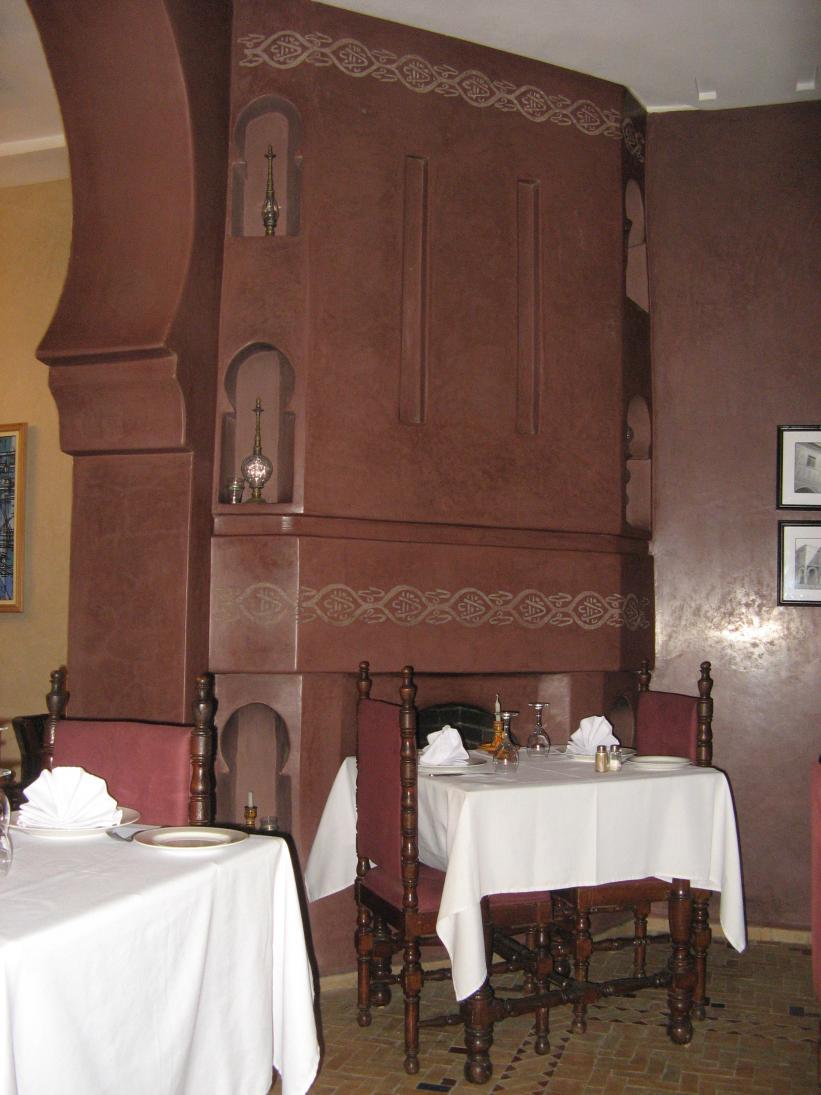 SUPER gezellig dit kleine restaurantje in de riad